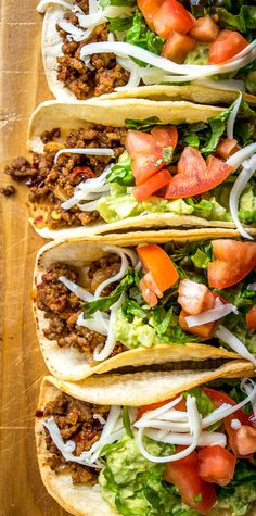 Classic Ground Beef Hardshell Tacos -- without the mystery taco seasoning packet. Classic Ground Beef Hardshell Tacos -- without the mystery taco seasoning packet. Meat Recipes, Healthy Dinner Recipes, Mexican Food Recipes, Cooking Recipes, Good Meals To Cook, Taco Seasoning Packet, Ground Beef Tacos, Ground Beef Recipes Easy, Mexican Recipes