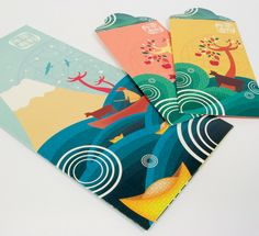 Antalis Year of The Ox Festive Package by Natalie Low, via Behance