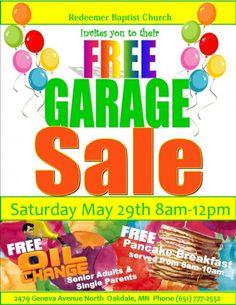 garage sale flyer template word