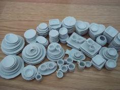 New 140 Pcs Dollhouse Miniatures Kitchen Food Supply Home Art Ceramic Dishware | eBay