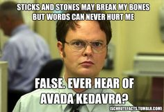 Oh Dwight.  He gets Harry Potter.