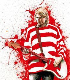 Kurt Cobain By Stephane Lauzon Kurt Cobain Art, Kurt Cobain Photos, Nirvana Kurt Cobain, Kurt Cobian, Nirvana Art, Black Hole Sun, Donald Cobain, Extreme Metal, Image Fun