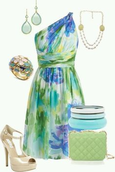 Love the one shoulder dresses! Great colors for spring and summer