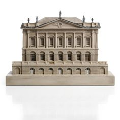 A lead-mounted polychrome decorated plaster model of Spencer House by Timothy Richards, dated May 1999.