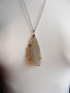 Necklace+Agate+slice+pendant+(s11)+from+Jewelry&Hand+Made+by+DaWanda.com