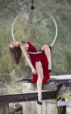 Elena Marina, Lyra I like the idea behind havind an aerial girl pose is a dress and heals. Hot.