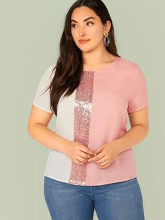 Color:                                                    Pink, Pastel Details:                                                    Button, Colorblock, Contrast Sequin Fabric:                                                    Fabric has no stretch Fit Type:                                                    Regular Fit Length:                                                    Regular Composition:                                                    100% Polyester Neckline…