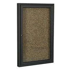 "Best-Rite Rubber Tak Enclosed Bulletin Board Size/Frame Finish: 48"" H x 72"" W x 3"" D/Coffee, Board Color: Blue"