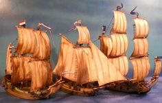 Pirate Fleet (includes Cannons), www.ainsty-castings.co.uk