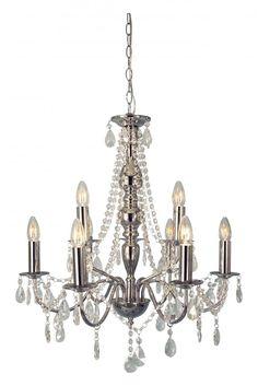 Chateau lysekrone Krom | Lampehuset Chandelier, Ceiling Lights, Lighting, Home Decor, Candelabra, Decoration Home, Room Decor, Chandeliers, Lights