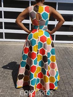 Excellent maxi dresses are available on our web pages. Check it out and you wont be sorry you did. African Dresses For Kids, African Maxi Dresses, Latest African Fashion Dresses, African Print Fashion, African Attire, African Traditional Dresses, High Waist, Detachable Collar, Scenic Photography
