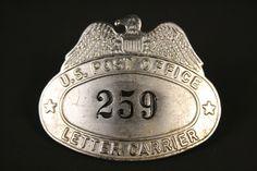 Vintage U.S. Post Office Letter Carrier Mailman Hat Badge #259
