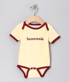 Take a look at this Yellow 'Homemade' Bodysuit - Infant on zulily today!