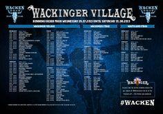 Running Order Wacken Open Air 2015 - Wackinger Village W:O:A