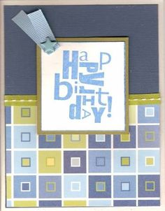 stampin it up alphabet soup | alphabet soup: Birthday | Stampin Up Cards