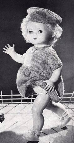 Post Free Dolls Clothes Knitting Pattern / by LoveFromNewZealand