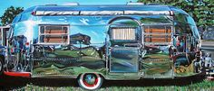 Trailer park chic! Painting by Tralee Guild of Vancouver