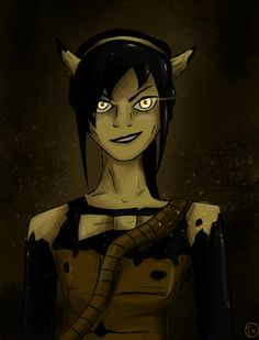 """""""Alice"""" from Chapter 3 with face and halo fixed, she looks """"Beautifull again"""". Definitely the true villain of Bendy and the Ink Machine, sadistic and ma. BATIM - Alice Angel with normal face Model Alice Angel, Just Ink, Bendy And The Ink Machine, Coraline, Fnaf, Disney Characters, Fictional Characters, Geek Stuff, Batman"""