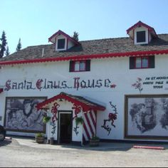 North Pole Alaska love this place, the oustside of the building is covered in handmade tiles all Christmas Top Of The World, Travel Around The World, Santa Claus House, Christmas Past, Christmas Ornament, Places Ive Been, Places To Visit, Alaska Adventures, Fairbanks Alaska