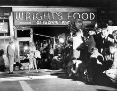 """Marilyn Monroe filming the """"Seven Year Itch"""""""