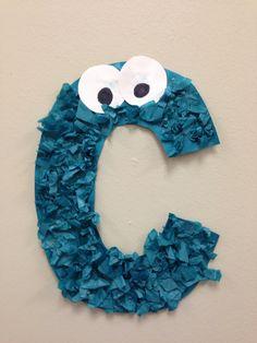 Letter C Cookie Monsters Preschool Craft