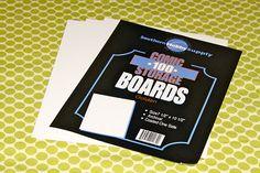 comic boards to fold fabric on