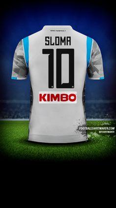 Koszulka SSC Napoli 2018/19 III numer 10 sloma Custom Football Shirts, Custom Shirts, Football Shirt Maker, Create Shirts, Shirt Store, Reebok, Under Armour, How To Make, Tops