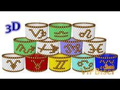 Beaded Ring Zodiac. 3D Beading Tutorial - YouTube