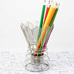 HEYFAIR Badminton Metal Pen Pencil Holder Desk Organizer ...