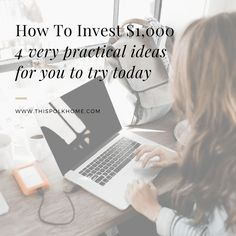 How to Invest $1,000   You've saved $1,000 but now you don't know what you should do with it. Use one of these tips to make the most of this $1,000 investment.
