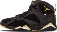 Jordan Shoes For Men, Air Jordan Shoes, Jordan 7, Jordan Retro, Black And Gold Jordans, Superga Sneakers, Jordans Sneakers, Shoes Sneakers, Shoes For School