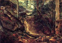 Théodore Rousseau - Ruisseau de montagne en Auvergne