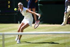 Petra Kvitova during a Third round match at Wimbledon. Florian Eisele/AELTC Wimbledon 2015