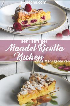 Sehr saftiger Ricotta-Mandel-Kuchen mit oder ohne H imbeeren Recipe for very juicy and creamy ricotta almond cake, gluten-free (and low carb possible), without flour and baked only with almonds. Summer Grilling Recipes, Summer Recipes, Easy Smoothie Recipes, Snack Recipes, Healthy Eating Tips, Healthy Snacks, Queso Ricotta, Cinnamon Cream Cheeses, Almond Cakes