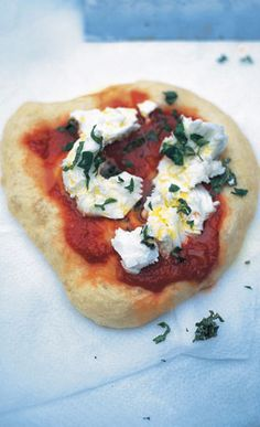 Fried pizza (pizza fritta) from Jamie Oliver recipes. This is an amazing recipe, rustic yet so perfect that it's the only pizza I eat. I'm vegan so I skip the cheese or use a vegan substitute.  I also prepare it as focaccia; before baking I sprinkle salt and olive oil and add some roasted vegetables. A must to try in your kitchen!