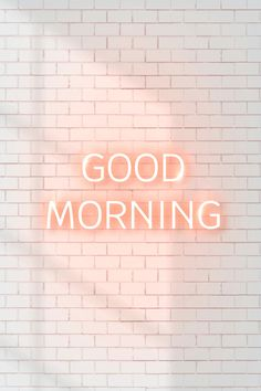 Morning Words, Good Morning Quotes, Good Morning Images, Photographie Bokeh, Positive Vibes, Positive Quotes, Neon Quotes, Neon Words, Body Shop At Home