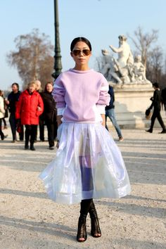 Street Style: Oksana On of Glamour Russia in Paris World Of Fashion, Paris Fashion, Winter Fashion, Street Fashion, Colourful Outfits, Fashion Pictures, Passion For Fashion, Fashion Outfits, Fashion Trends