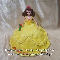 103. Tort lalka Bella. Disney princess Bella cake.