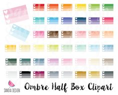 43 Rainbow ombre check list clipart. Personal and comercial use. by SandiaDesign on Etsy