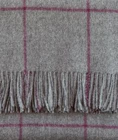 100% Baby Alpaca throw.  Here is a close up look of the throw with a squares pattern