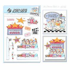 Art Impressions PopUps 4 Sheets 2 DesignsDeco Set 1 *** Amazon most trusted e-retailer #ChildrenArtsCrafts
