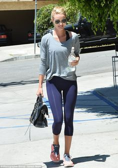 Post-gym:Rosie Huntington-Whiteley, 28, was spotted leaving the gym on Friday in Santa Monica