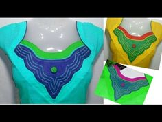 New Neck Designs - For KURTI & KAMEEZ - Easy Making - Cutting & Sewing - YouTube