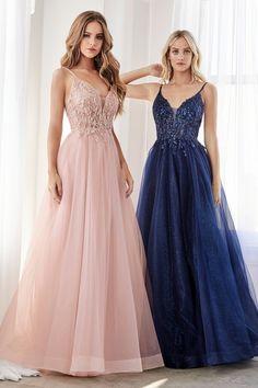 Cute Prom Dresses, Grad Dresses, Evening Dresses, Formal Dresses, Party Dresses, Glitter Dress, A Line Gown, Navy Blue Dresses, Navy Blue Prom Dress Long