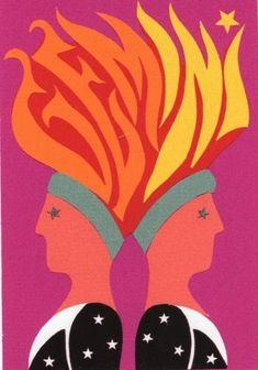 i'm a gemini girl (from joe & gerry simboli's zodiac series, late 1960s)
