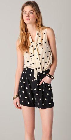 marc by marc jacobs hot dot print blouse and shorts