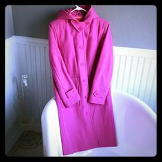 Isaac Mizrahi Coat Selling a Isaac Mizrahi Coat. It is small in size, pink in color, and longer in length. I am 5'5 and it hangs right below my knee. Quilted lining on the inside, very warm and ready for wear. Isaac Mizrahi Jackets & Coats Trench Coats