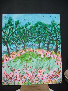 Zelf geschilderd.Gemaakt door Gerrie van Leeuwen.