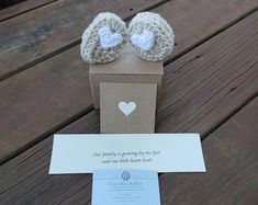 This item is unavailable Baby Announcement Shoes, Grandparent Pregnancy Announcement, Gender Reveal Gifts, New Baby Gifts, New Baby Products, Handmade, Etsy, Hand Made, Arm Work