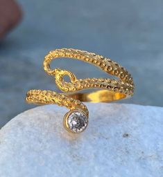 Excited to share this item from my #etsy shop: Gold octopus ring, zircon gem ring, tentacle ring, gold adjustable ring, octopus ring with gemstone, octopus ring, tentacle ring, gold ring Garnet Rings, Garnet Gemstone, Octopus Ring, Greek Jewelry, Evil Eye Jewelry, Evil Eye Pendant, Eye Necklace, Tentacle, Turquoise Pendant